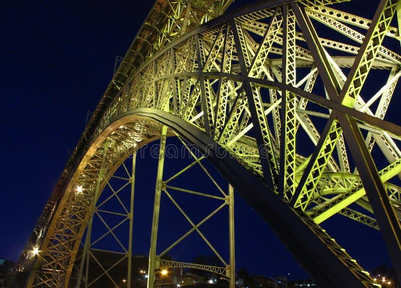 Dom Luís i Ponte de, мост свода металла двух-палубы который пяди река Дуэро стоковые изображения rf
