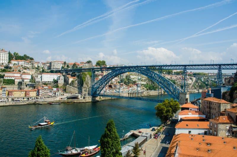 Dom Luis Bridge en Oporto, Portugal fotos de archivo libres de regalías