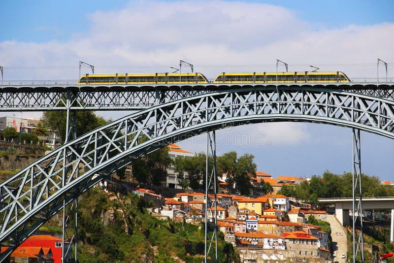 Dom Luis Bridge, Oporto, Portogallo fotografia stock libera da diritti