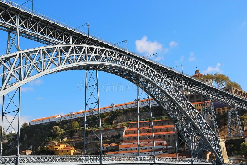 Dom Luis Bridge, Oporto, Portugal fotos de archivo