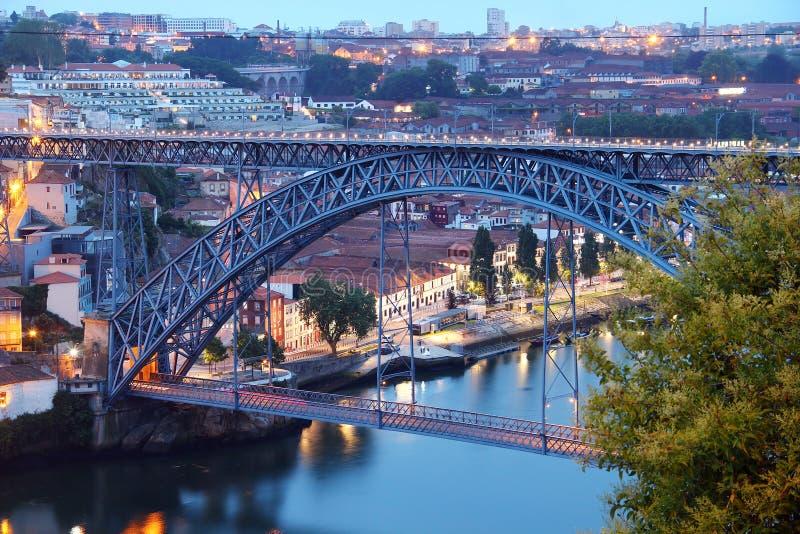 Dom Luis Bridge (Ponte Luis I) a Oporto immagini stock libere da diritti