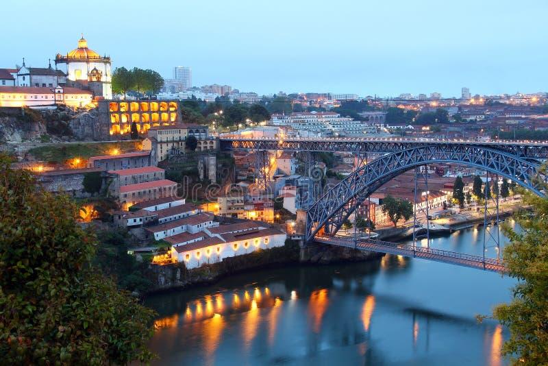 Dom Luis Bridge y Vila Nova de Gaia, Portugal imagen de archivo libre de regalías