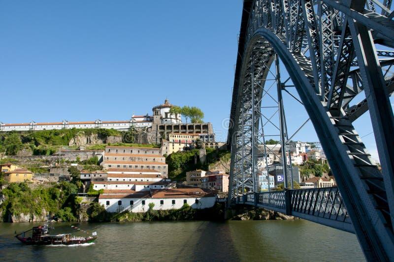 Dom Luis eu construo uma ponte sobre - Porto - Portugal imagens de stock