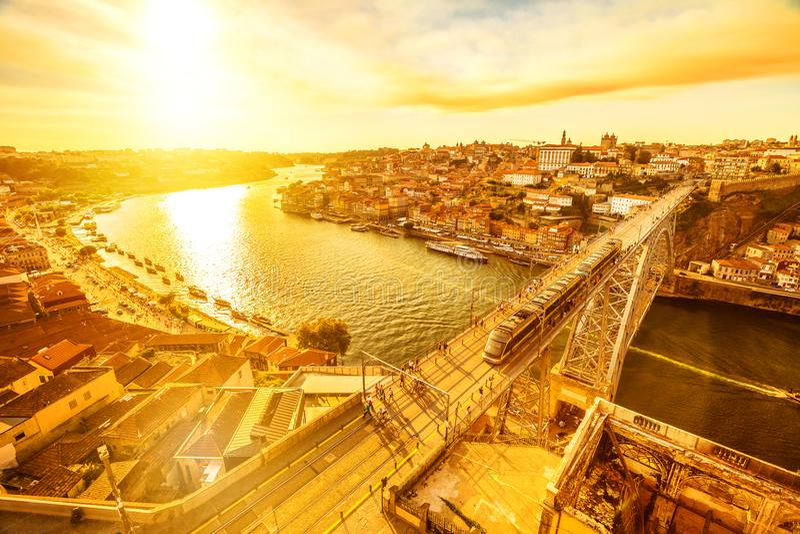 Dom Luis mim Porto fotografia de stock