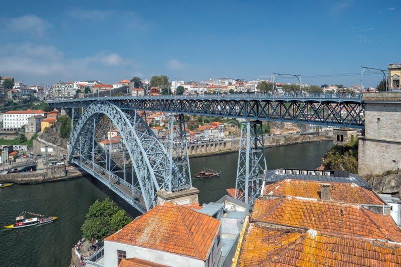 Dom Luis 1 puente, Vila Nova de Gaia, Portugal fotos de archivo
