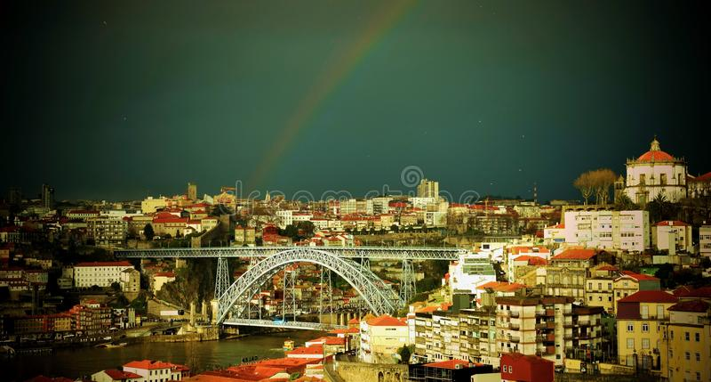 Dom Luiz 1 Bridge stock photography