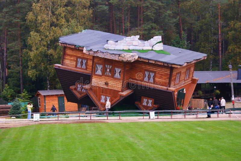 Dom na dachu zdjęcie royalty free