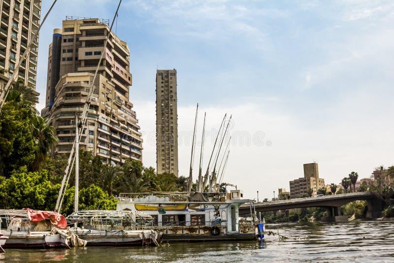 Dom na Quays na rzecznym Nil w Kair Egipt zdjęcia stock