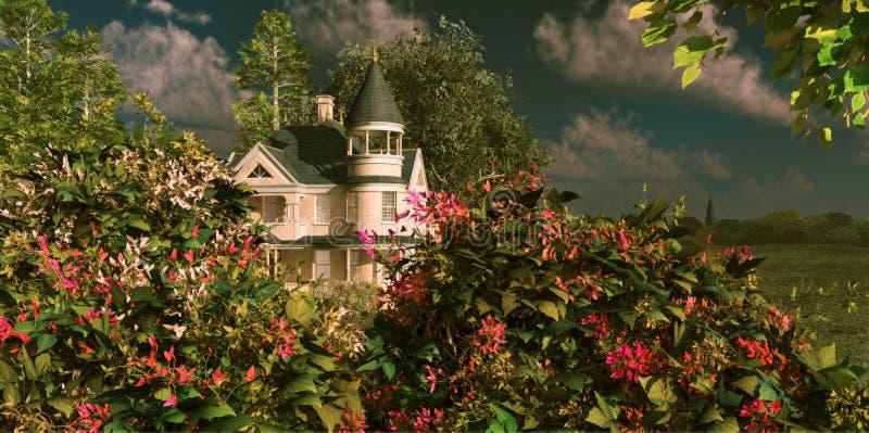 dom na wsi royalty ilustracja