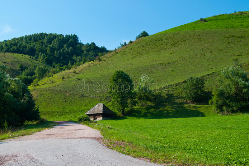 dom na wsi stary zdjęcia stock