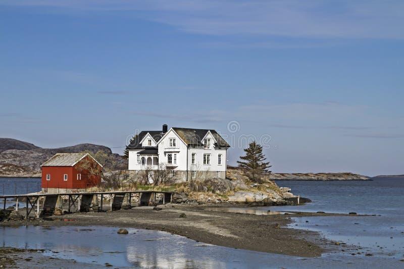 Dom na wyspie obraz royalty free