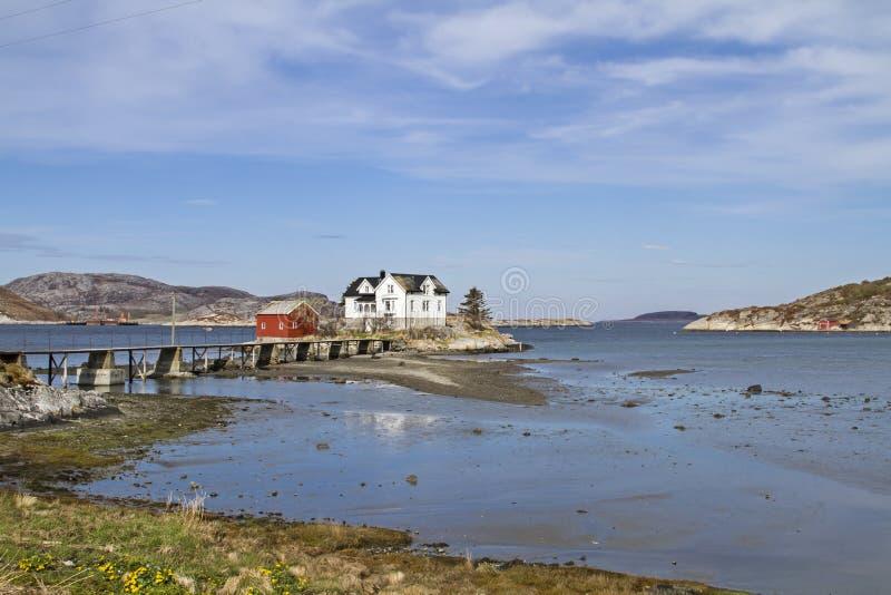 Dom na wyspie obrazy royalty free