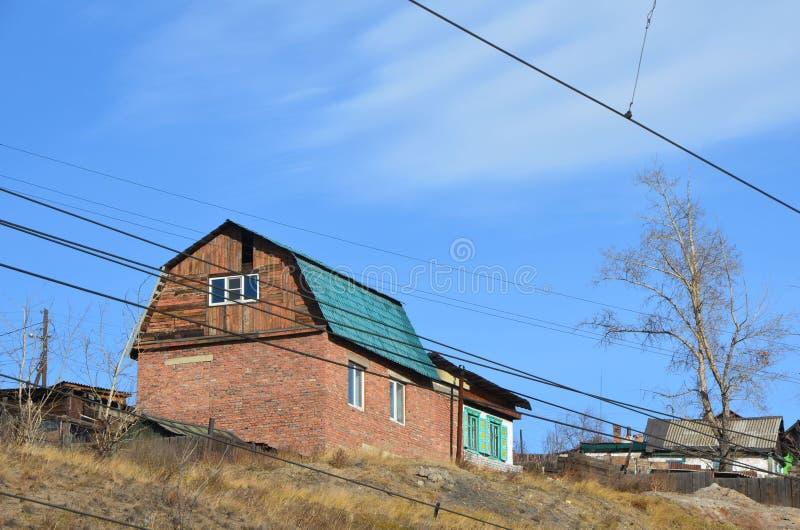 Dom na wzgórzu zdjęcia stock