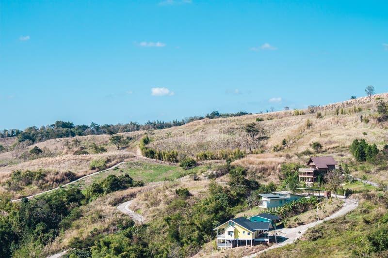 Dom na wzgórzu fotografia royalty free