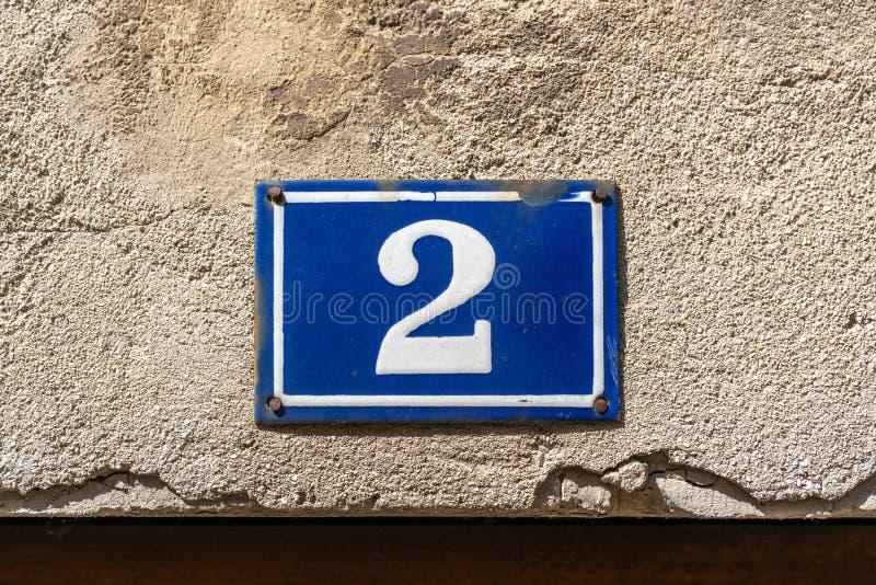 Dom numer 2 obraz royalty free