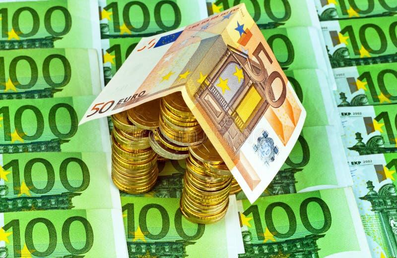 Dom od ã¢â¬ monet od pieniądze obraz royalty free