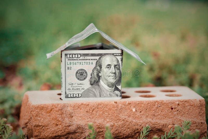 Dom od pieniądze obrazy royalty free