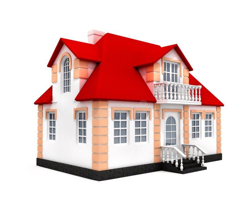 dom odizolowane model 3 d fotografia stock