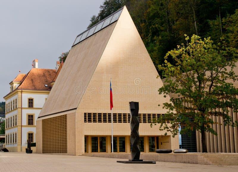 Dom parlament w Vaduz zdjęcie stock