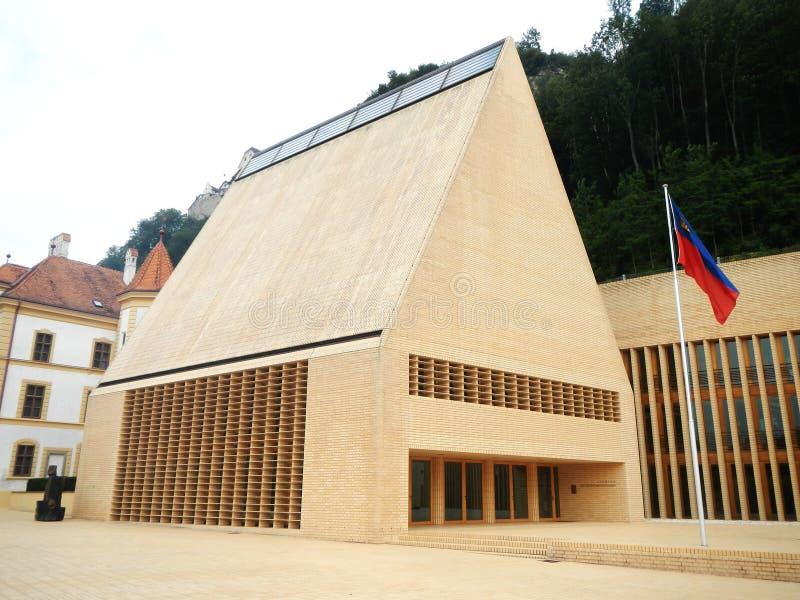 Dom parlament w Vaduz zdjęcia royalty free