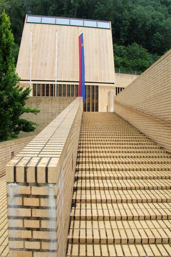 Dom parlament w Vaduz, Liechtenstein fotografia stock
