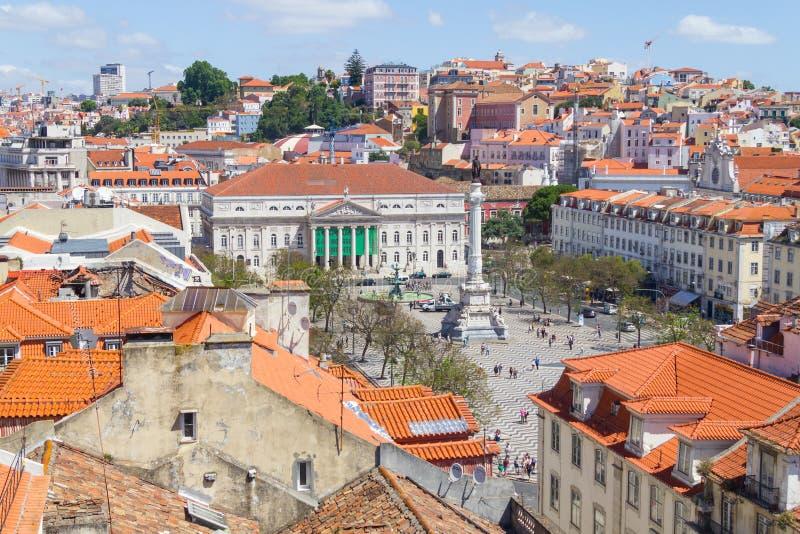 DOM Pedro IV τετράγωνο στοκ φωτογραφία με δικαίωμα ελεύθερης χρήσης