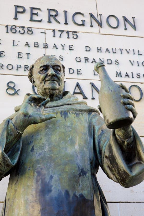 dom perignon statua fotografia royalty free