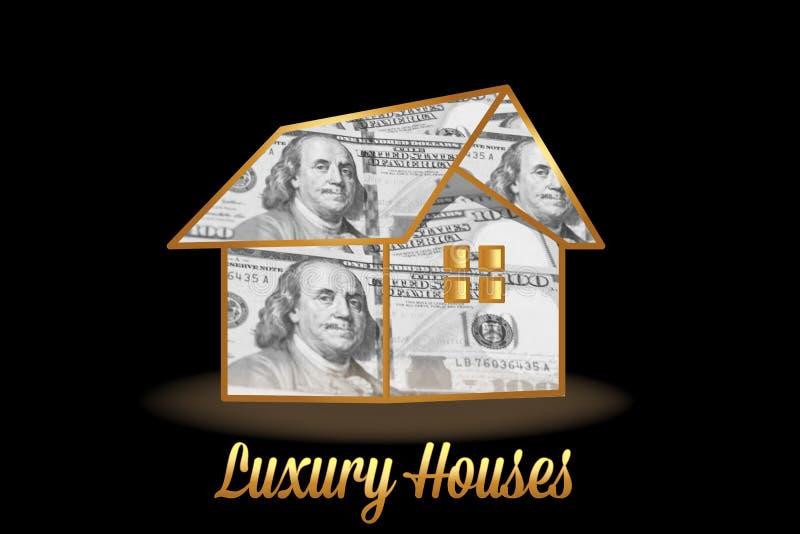 Dom pieniądze wizerunku zapasu luksusowa fotografia ilustracji