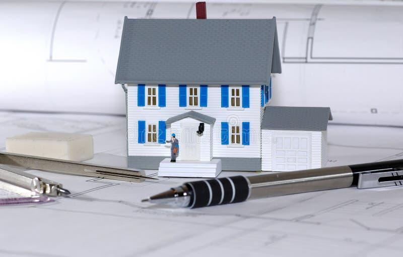 Dom Projektu Zdjęcie Royalty Free