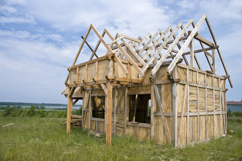 dom ramowy drewniane zdjęcie royalty free