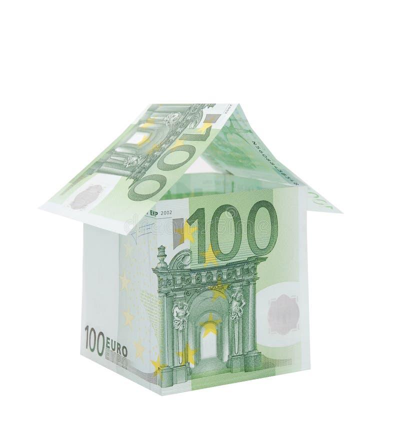 Dom Robić Od Euro Rachunków Bezpłatna Fotografia Stock