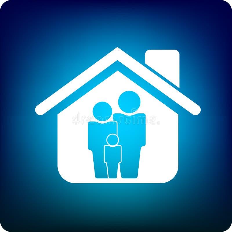 dom rodzinny royalty ilustracja