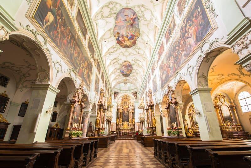 Dom Sankt Jakob, собор Инсбрука стоковое изображение