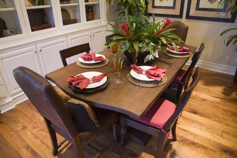 dom się luksusu stół zdjęcie stock