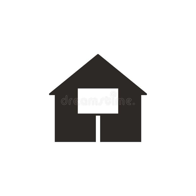 Dom, sprzedająca wektorowa ikona Prosta element ilustracja od UI poj?cia Dom, sprzedająca wektorowa ikona Finansowa poj?cie wekto ilustracja wektor