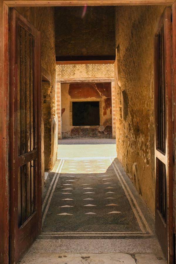 Dom szkieletu Herkulaneum Neapol Włochy zdjęcie royalty free