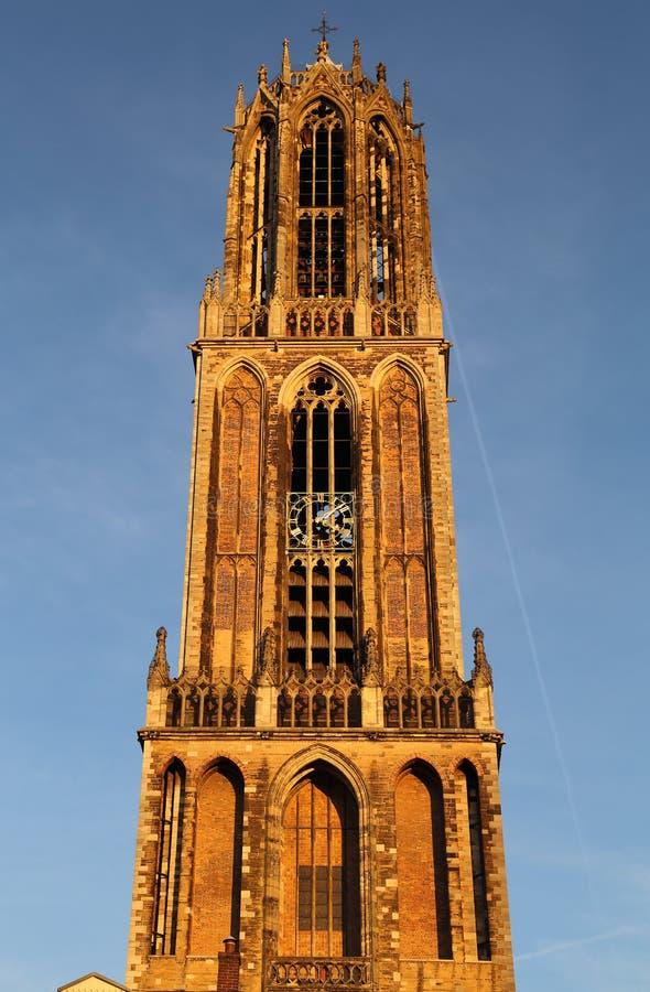 Dom toren in Utrecht, Holland stock afbeelding