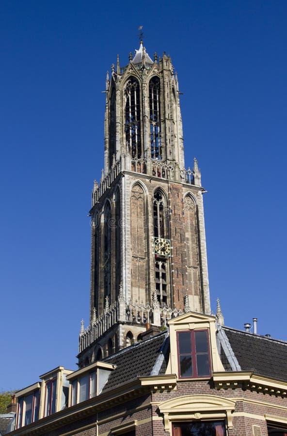 Dom Toren van Utrecht, Holland stock afbeeldingen