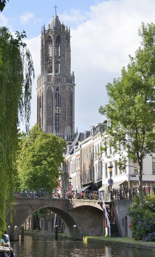 Dom Tower en Utrecht foto de archivo