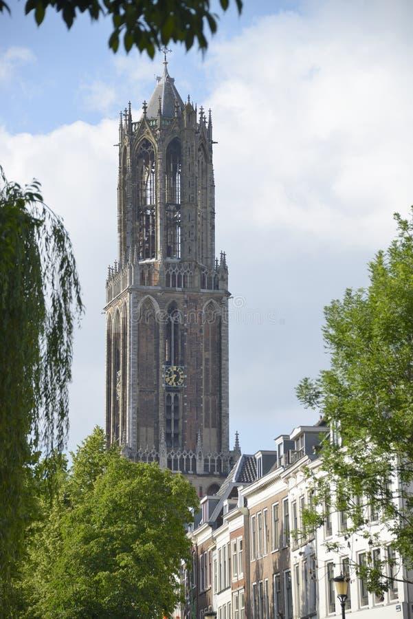 Dom Tower en Utrecht fotografía de archivo