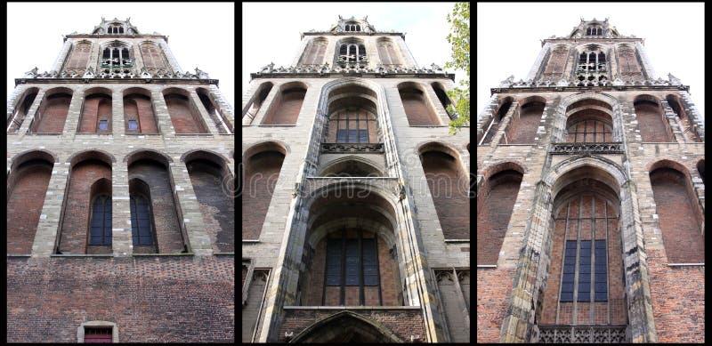Dom Tower gothique à Utrecht, Pays-Bas images libres de droits