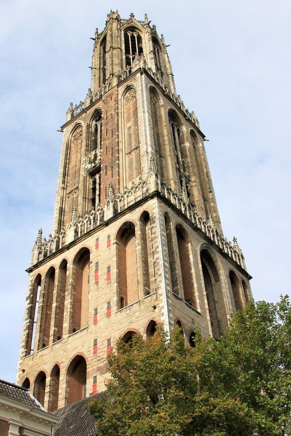Dom Tower gotico di Utrecht, Paesi Bassi fotografia stock