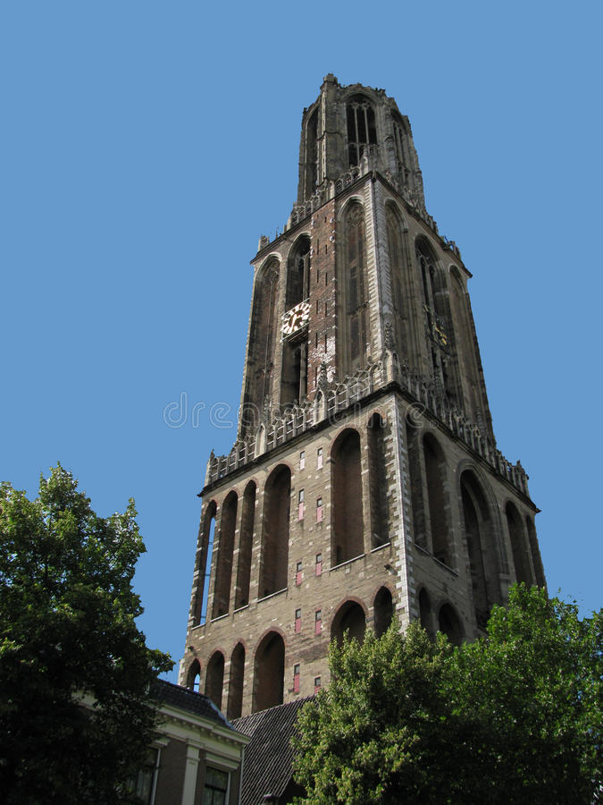 Dom Tower of Utrecht. View of the Dom Tower of Utrecht stock photography