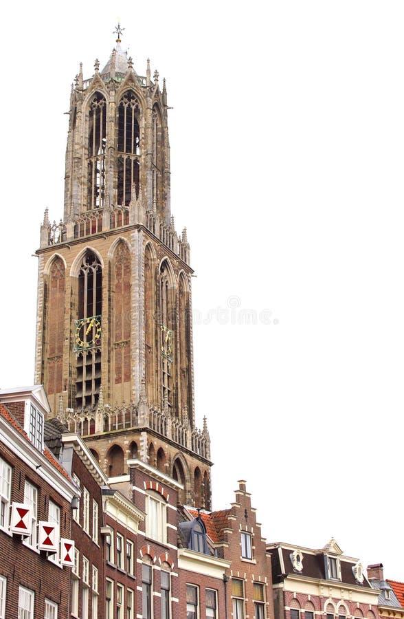 Dom Tower in Utrecht ist die höchste Kirche und der Turm in den Niederlanden stockbild