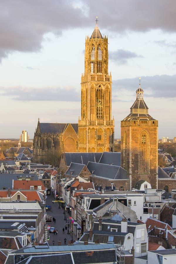 Dom tower Utrecht, Netherlands stock photo