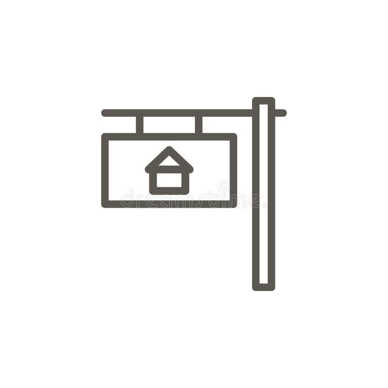 Dom, własność, domowa wektorowa ikona Prosta element ilustracja od UI poj?cia Dom, własność, domowa wektorowa ikona mieszka? nier royalty ilustracja