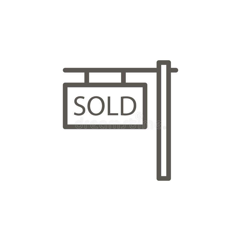 Dom, własność, sprzedająca wektorowa ikona Prosta element ilustracja od UI poj?cia Dom, własność, sprzedająca wektorowa ikona mie royalty ilustracja