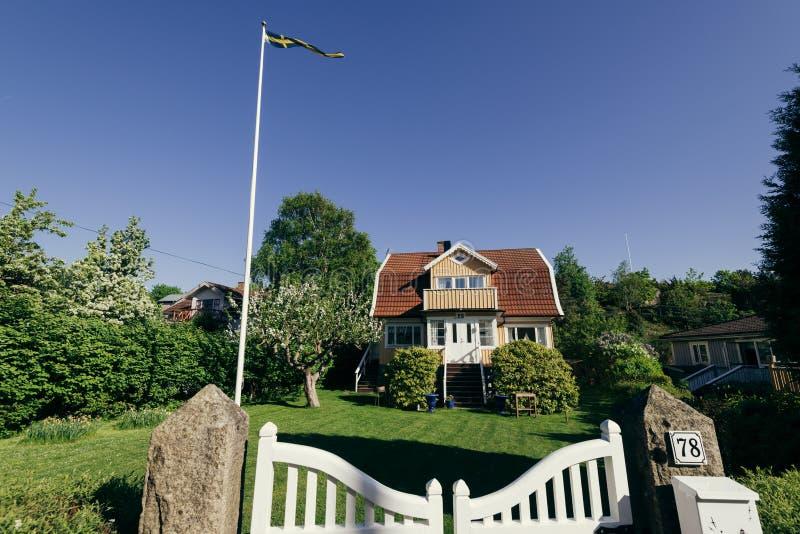 Dom w Branno, Szwecja zdjęcie royalty free