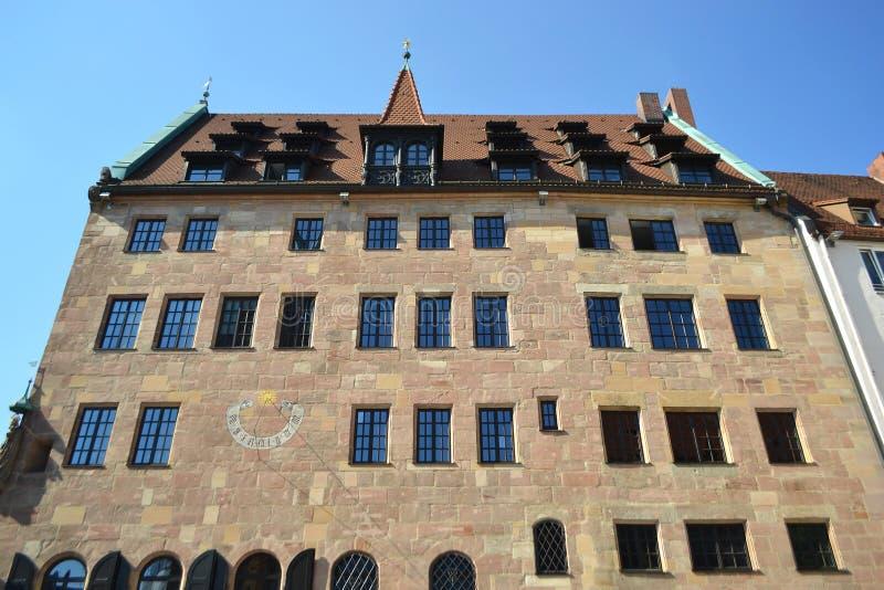 Dom w centrum Nuremberg obraz royalty free