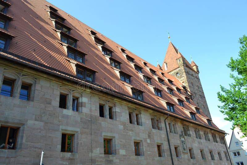 Dom w centrum Nuremberg obrazy stock